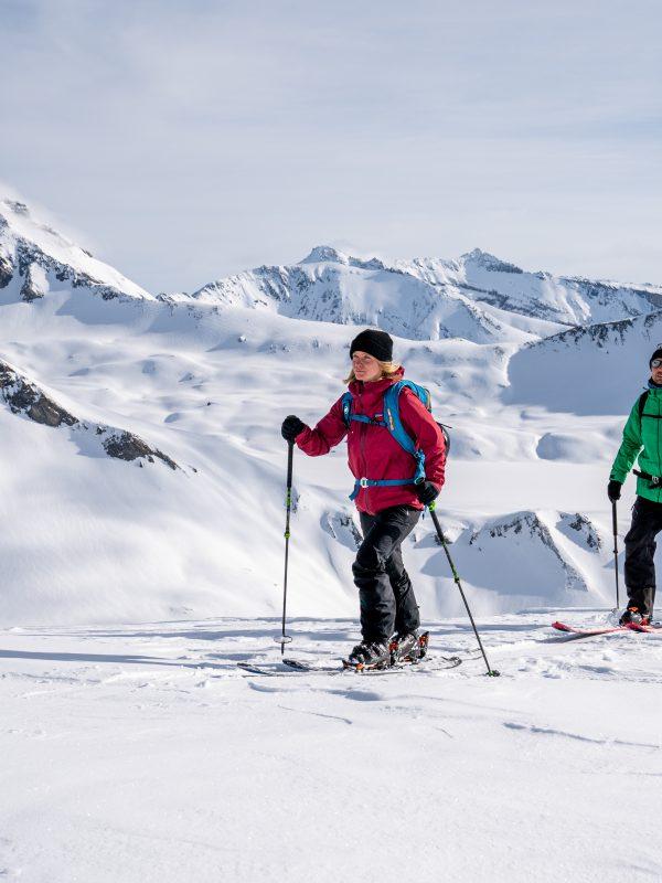 Skitouren gehen am Segnesboden